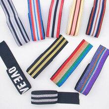 Цветные нейлоновые резинки в полоску 40 мм, сделай сам, лента для пояса, платье, обувь под брюки, резиновая одежда, 4 см, тесьма для одежды, аксе...