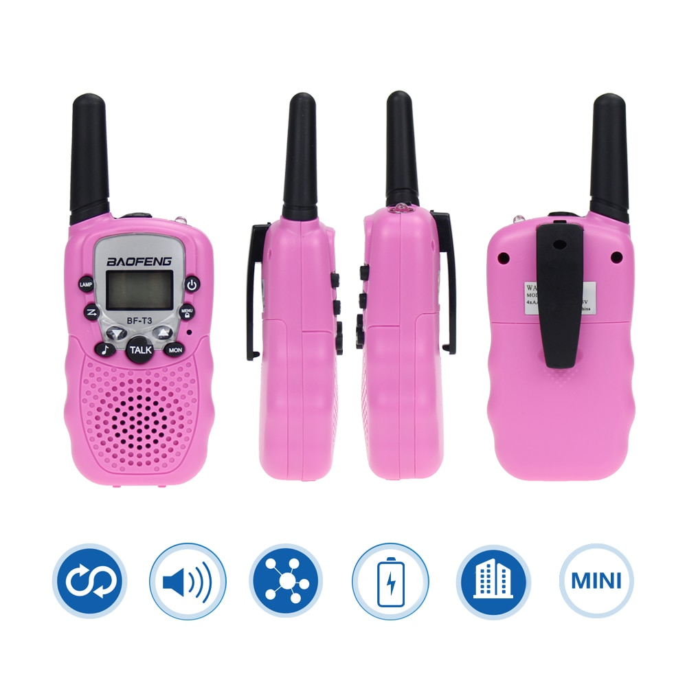2Pcs Children's Walkie Talkie Kids Radio Mini Toys Baofeng BF-T3 For Children Kid Birthday Gift BFT3 Christmas Gifts enlarge