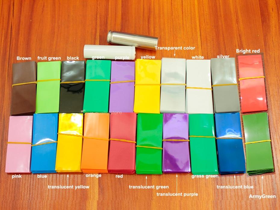 Купить с кэшбэком 100pcs/lot Lithium battery packaging shrink film 18650 battery special heat shrinkable casing skin PVC heat shrinkable film