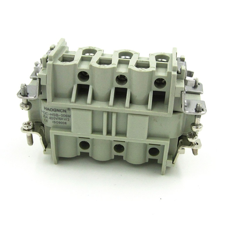 HDC-HSB-006M/f موصل الحمل الثقيل 6 النواة 35A مستطيل موصل داخل النواة تدفق الحرارة سبيلا