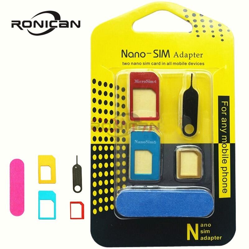 Adaptador de tarjeta NANO SIM con Pin de tarjeta, para iPhone 4/4S...