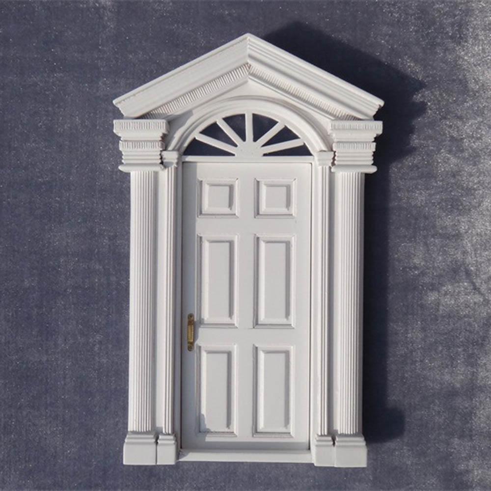 1/12 Dollhouse Miniature Accessories Mini Wooden White 6 Lattice Door  Simulation Furniture Model Toys Doll House Decoration недорого