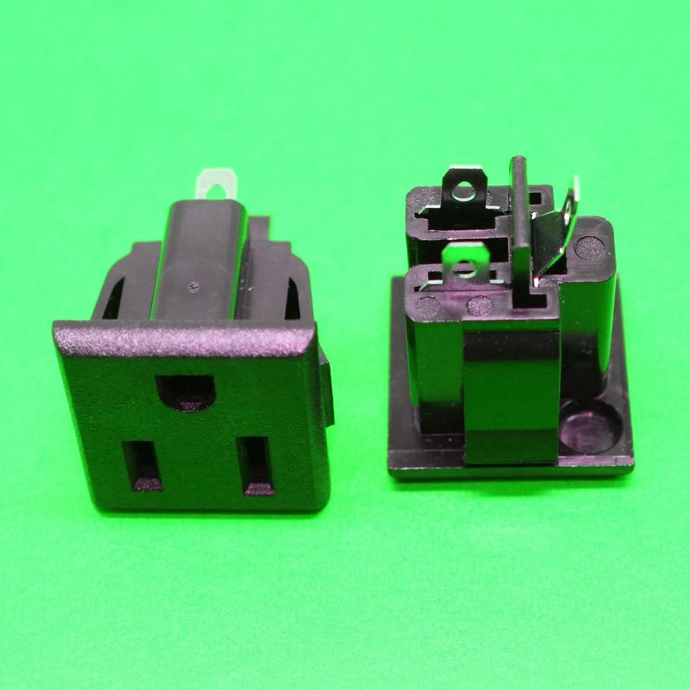 150 piezas por DHL American estándar AC toma de corriente 15A 125 V certificación multinacional Medio ambiente cobre CA toma de corriente