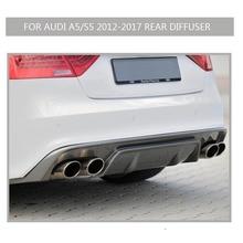 Diffuseur arrière s5 pour audi s5   En fiber de carbone, 2 portes 4 portes 2012 2013 2014 2015 2015 2016