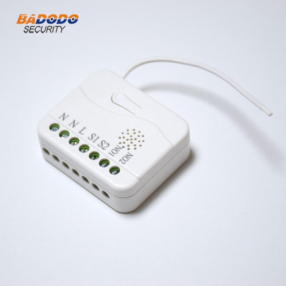 Módulo de controlador de obturador con rodillo z-wave plus, inalámbrico, de frecuencia EU AU US, TKB home TZ75 para casa inteligente, 2X1.1KW de carga