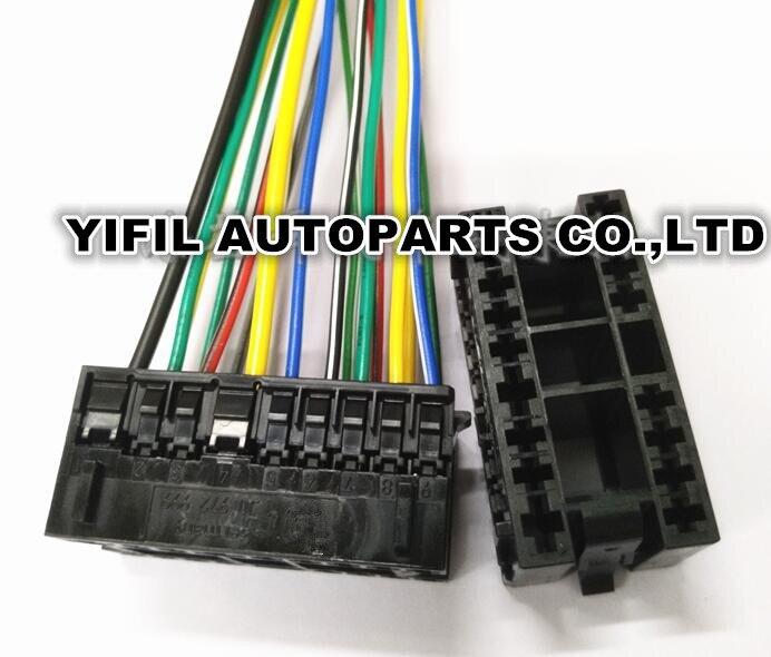 17 Pin/Forma Farol Farol Interruptor Plug Conector Com Cabo Pigtail Fio Para VWJetta Volkswagen Golf Beetle MK4 1J0 972 999