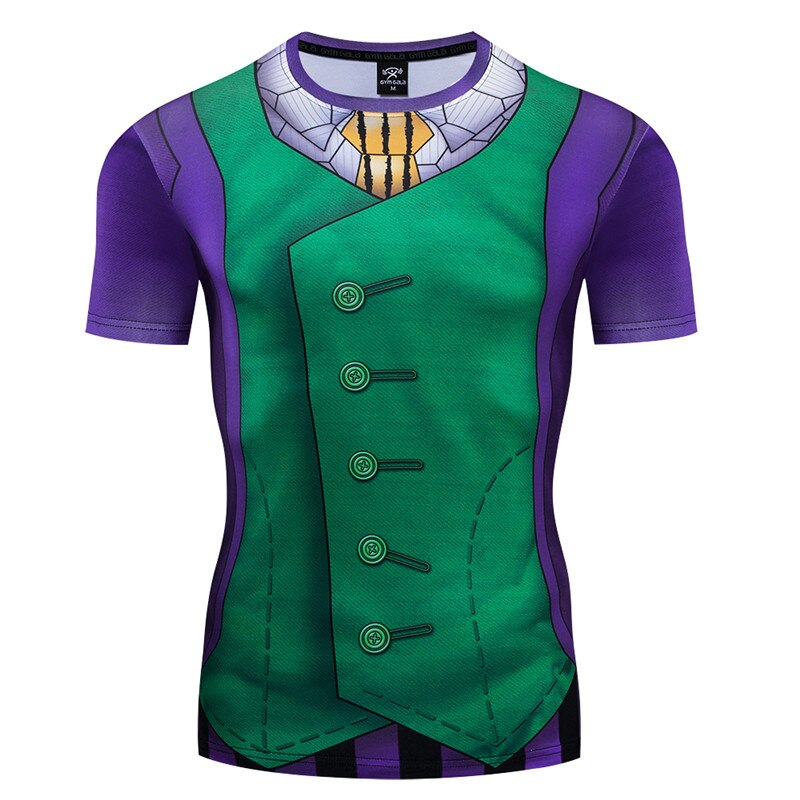 2019 New 3D Printed Funny T shirt Mens Compression Shirt Hip Hop Harajuku Men T-shirts High Quality Short Sleeve Cosplay Costume