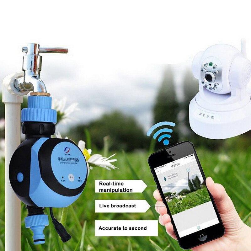 1pc WiFi inteligente remoto de teléfono grifo agua temporizador automático jardín electrónico inteligente controlador de irrigación sistema de riego