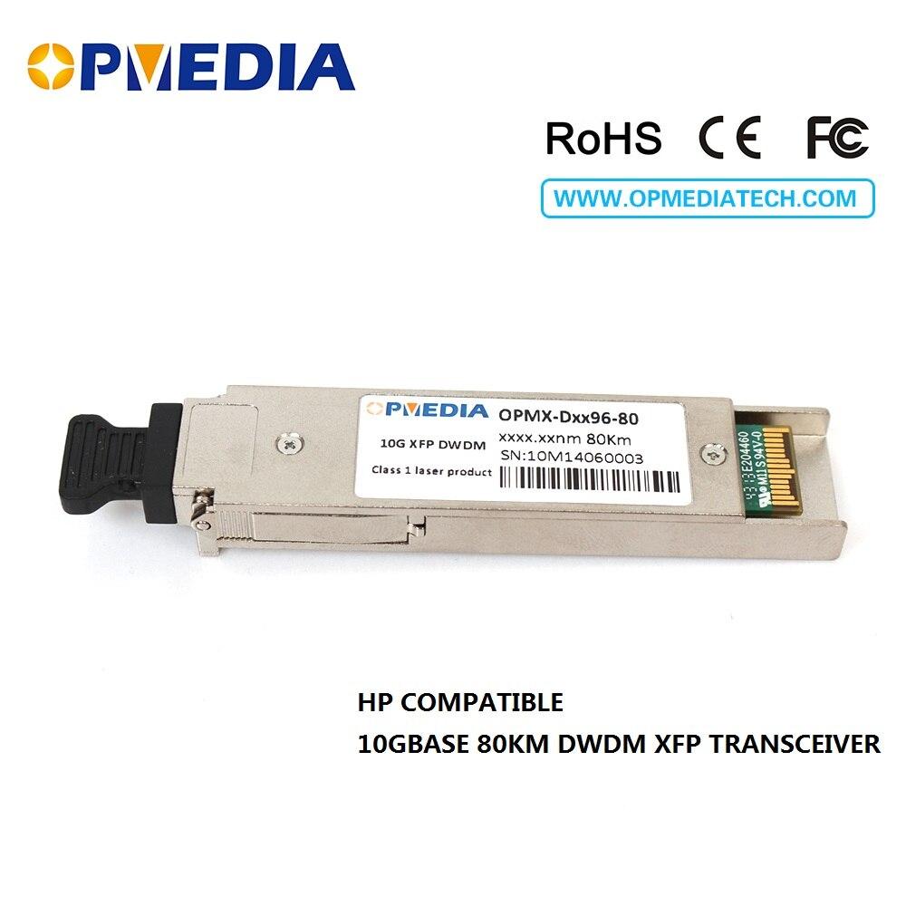 HP compatible 10GBASE-DWDM XFP 80KM C-banda (1563.86nm ~ 1528.77nm) transceptor 10G XFP DWDM ZR módulo óptico envío gratis