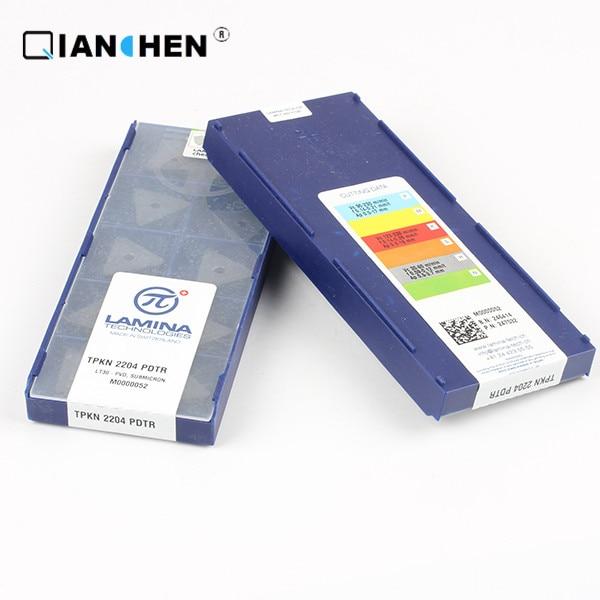 LAMINA TPKN 2204 PDTR LT30 original y genuino de alta calidad y alto rendimiento (10 unids/lote) insertos de herramientas de corte de carburo de tungsteno