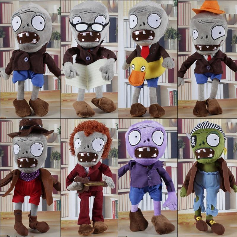 8pcs/lot 30cm Plants vs Zombies Zombies Plush Toys Doll Plants vs Zombies PVZ 2 Soft Plush Toy Stuffed Toys for Kids Xmas Gifts