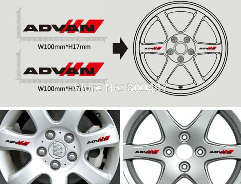 4 x новейшая забавная наклейка на обод колеса автомобиля, аксессуары автомобиля наклейки для Yokohama Advan