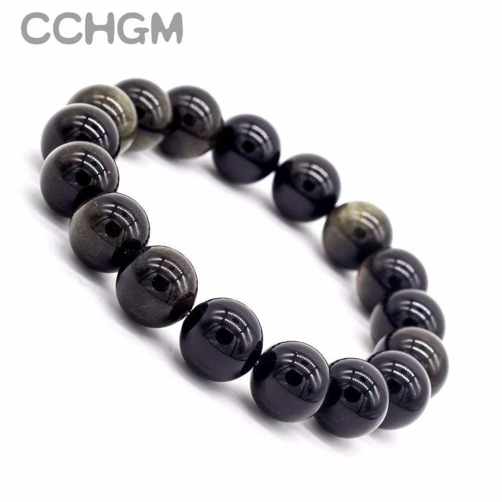 2017 natural preto obsidian jaspers pedra contas de cristal pulseiras para as mulheres contas redondas pulseira jóias pingente vintage