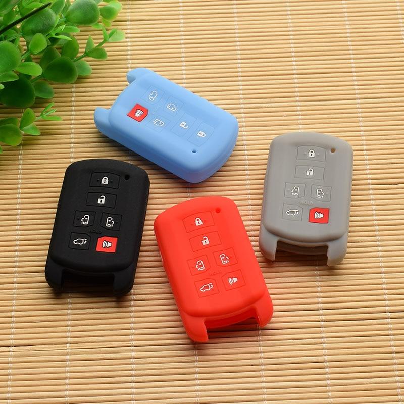 Carcasa para mando a distancia de goma de silicona pegatina para toyota Sienna se 6 botones acceso protegido remoto sin llave