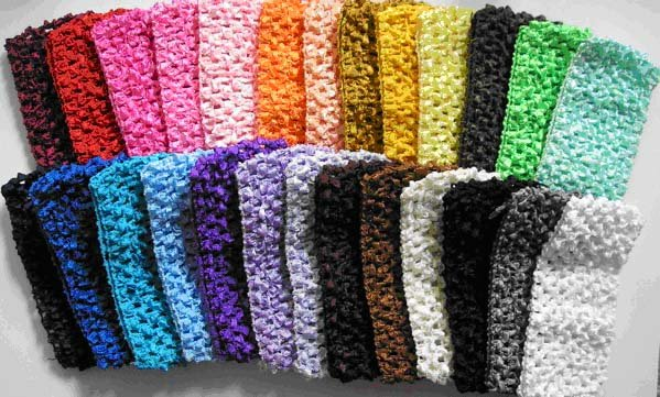 free shipping 150pcs 1.5''  headbands  3cm girls CROCHET HEADBAND pretty headbands