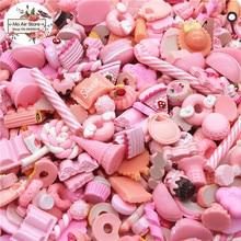 mix design dessert pink color 20pcs Resin Flat back Cabochon Art Supply Decoration Charm Craft