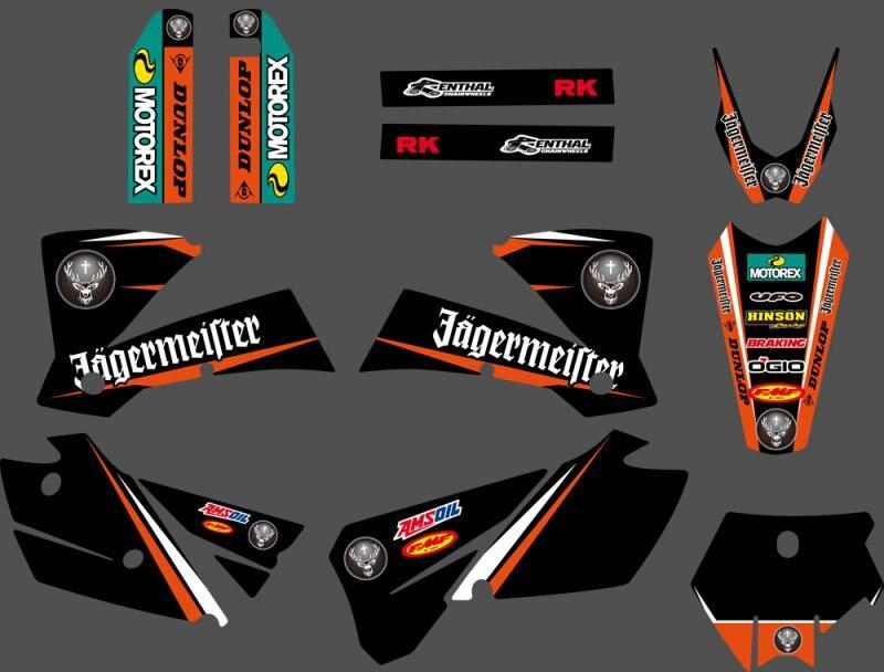 Новинка 0292, графика команды с соответствием фотографиям для KTM SX 125 200 250 300 450 525 2003 2004