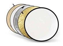 Godox 80 см 80 см 32 дюйма 5 в 1 Godox 5 в 1 складной портативный Рассеиватель Вспышки Круглый отражатель серебристый золотой черный белый