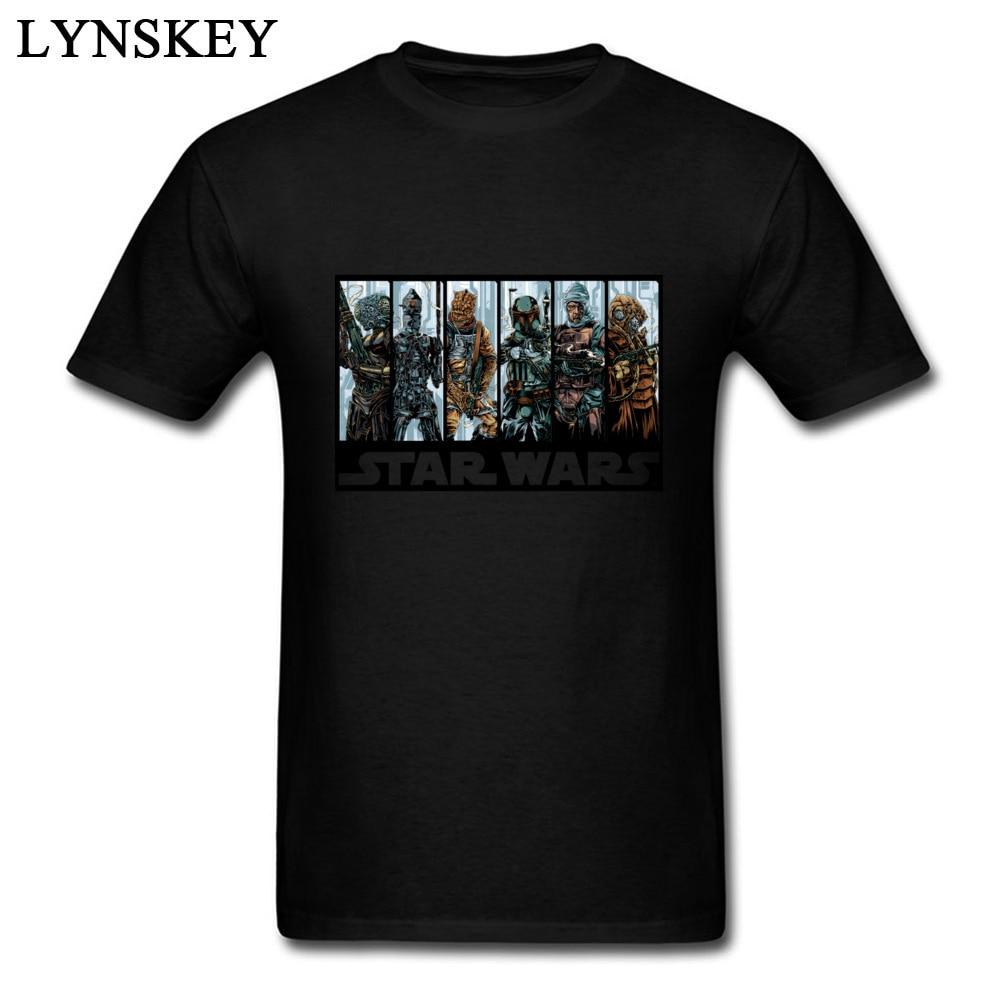 Star wars t camisa galactic bounty hunter guild camiseta filme tshirt masculino preto roupas 1977 vintage comic topos t verão