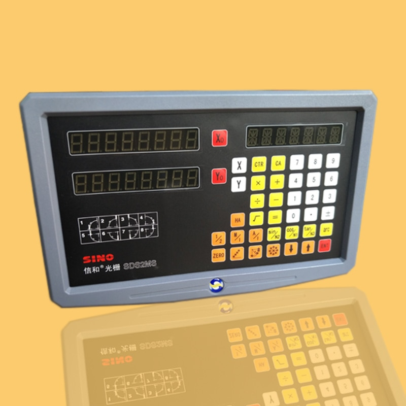 SINO Многофункциональный фрезерный станок токарная линейная резка линейные весы решетка линейка цифровой дисплей DRO