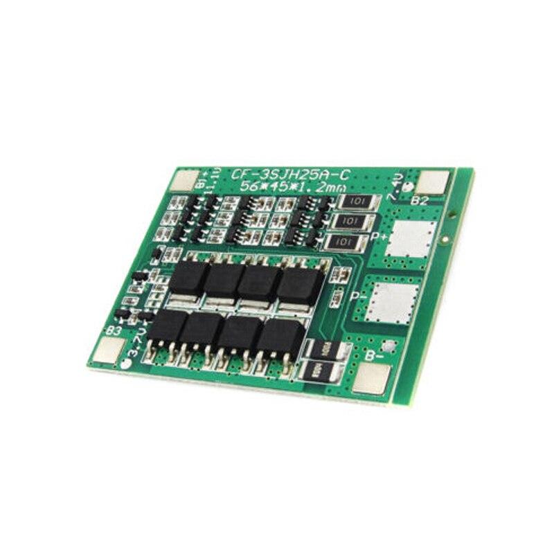 12V 3 S polímero cargador de batería de litio Placa de protección PCB protección de carga BMS tablero 3 Serie para 18650 18550 Li-ion LipoA
