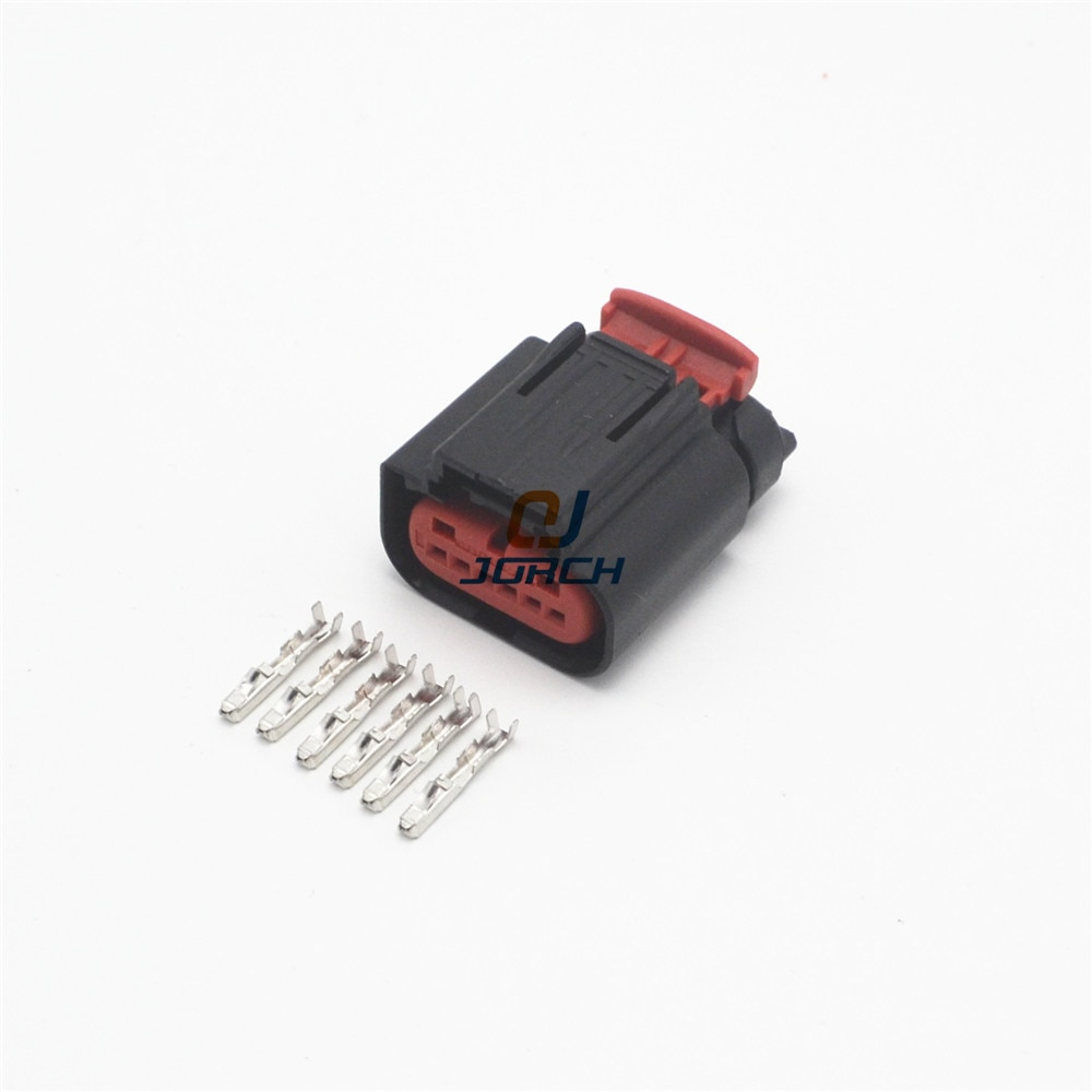5 sets tyco 6 pin automotive waterproof Air Flowmeter connector Plug 1438153-5
