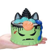 Jumbo Halloween gâteau licorne spongieux lente à lever jouets à presser le pain parfumé soulager le Stress amusant pour enfant bébé cadeau de noël jouet