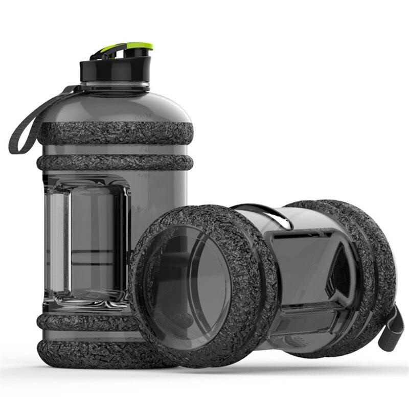 Botella de agua de gran capacidad de 2,2 L, botella para agua y bebidas para bicicleta de entrenamiento de acampada, deportes al aire libre, hervidor de Fitness portátil