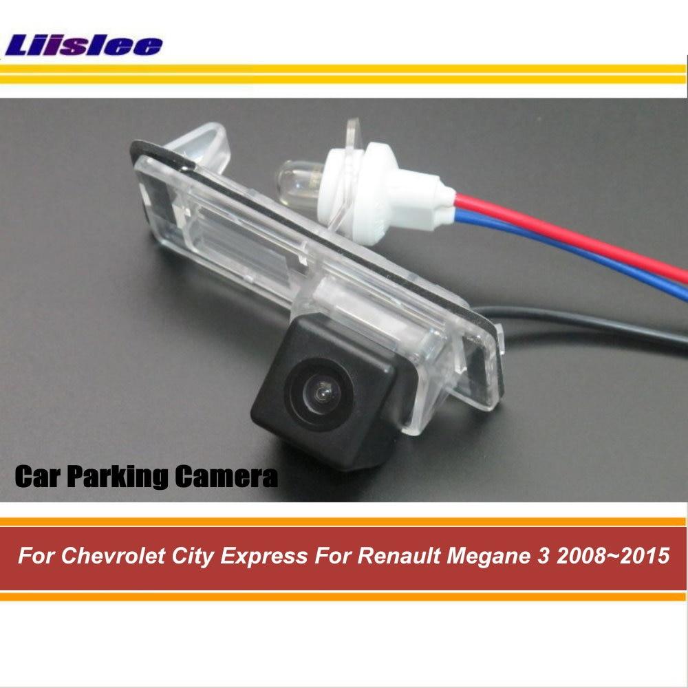 Cámara de visión trasera para marcha atrás del coche para Renault Megane 3 2008 ~ 2014 2015 parte trasera de vehículo Up cámara de estacionamiento para Renault Clio 4 2014 2015