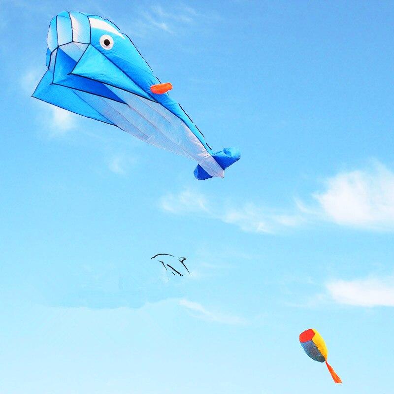 Envío Gratis, gran calidad, cometa de delfín suave grande ripstop, juguetes de nailon para exteriores, cometa de pulpo volador, fábrica alien inflable
