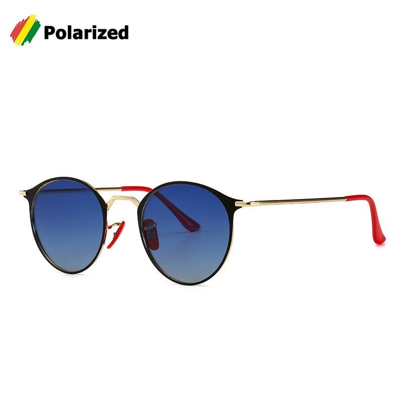 JackJad поляризованные солнцезащитные очки, круглые очки в современном винтажном металлическом стиле, солнцезащитные очки с красным носом, 3602