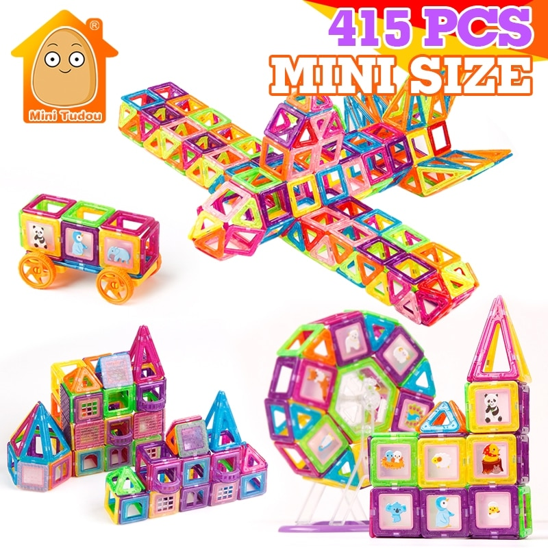 415 Uds Mini bloques magnéticos, modelos de imán, juguete de construcción, construcción magnética, diseño de ladrillos, juguetes magnéticos, regalo educativo para niños