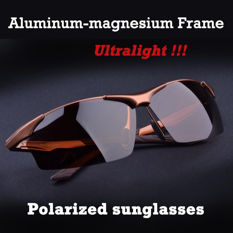 Gafas de sol polarizadas de aleación de aluminio y magnesio para hombre, gafas para conducir con espejos, gafas para hombre, gafas de sol de moda para conducir