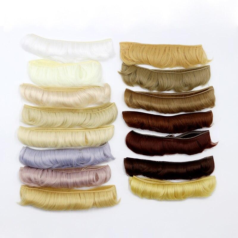Msiredoll bjd peruca acessórios, 1 peça 5*100 cm cabelo boneca para 1/3 1/4 bjd boneca diy franja boneca de cabelo frete grátis,