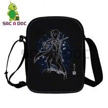 Sword Art Online Kirito Fluorescence Mini Messenger Bag Women Men Kids Daily Shoulder Bags Phone Bag Crossbody Travel Bags