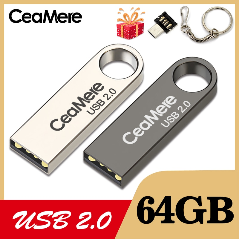 CeaMere C3 USB Flash Drive 16GB/32GB/64GB Pen Pendrive 2.0 Memory stick  disk 3 Color FLASH DRIVE