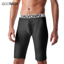 Caleçons hommes longs Boxer Shorts élastique serré genou longueur hiver chaud caleçons Compression grande taille boxeurs sous-vêtements 5066