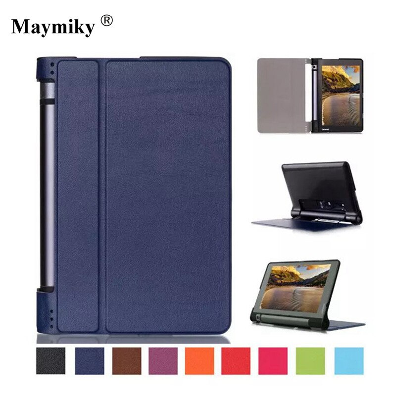Yoga Tab 3 8 pulgadas caso de Lenovo Yoga Tab que 3 8 cubierta Funda tipo libro para Lenovo Yoga Tab 3 Tab3 8 850f YT3-850F 850M + película + Pen