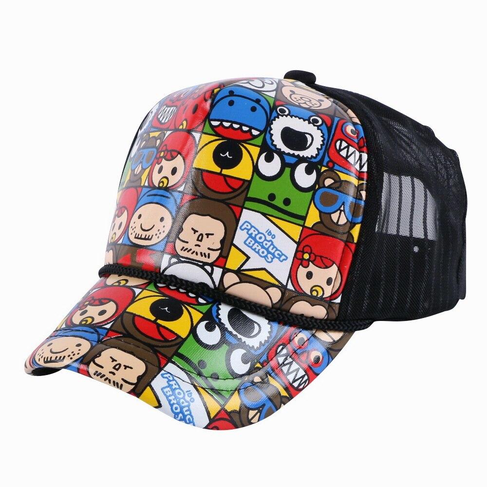 Gorra de béisbol de 4-12 años para niños y niñas, gorra de béisbol con personaje de corazón, diseño de dibujos animados, gorra snapback personalizada para niños de hip hop