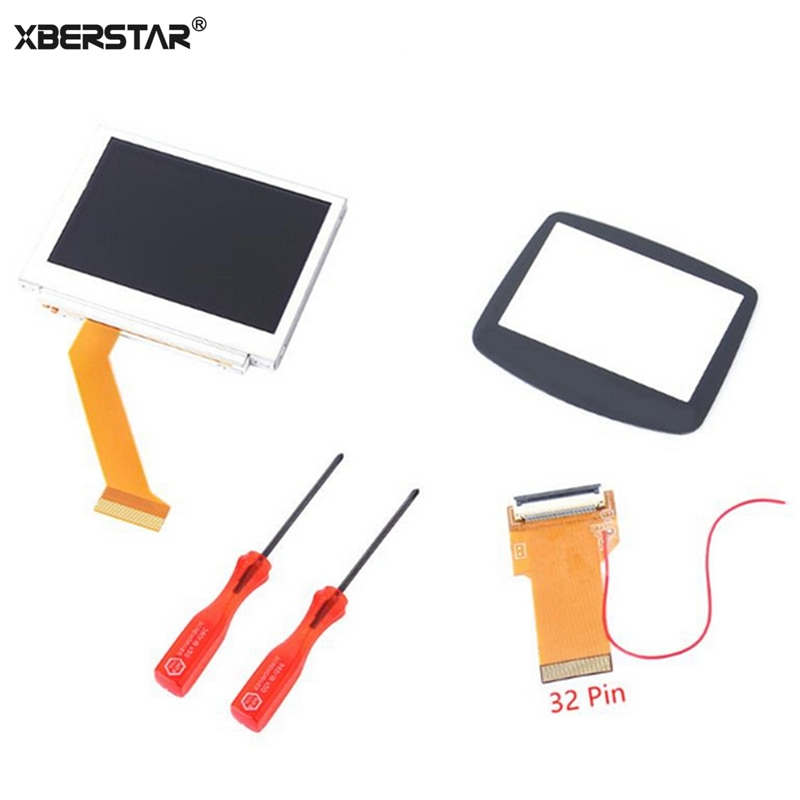 Replacement 32pin 40pin LCD Screen For Nintend GBA Backlight Kit Cable adapter for GBA SP AGS-101 MOD LCD Screen
