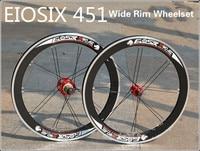 EIOSIX BMX Wheelset 451 22inch Folding Bike Wheel S90 Wide Rims 48ring 74/130mm BMX Parts