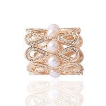 Élégant simulé perle Design croix couleur or argent broches châle foulards écharpe boucle anneau Clips pour les femmes cadeau