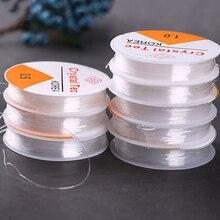 DIY Crystal Kralen Stretch Cord Elastische Lijn 0.7mm 0.5mm 0.8mm 1.0mm Clear Kralen Draad/Koord /String/Draad Sieraden Maken