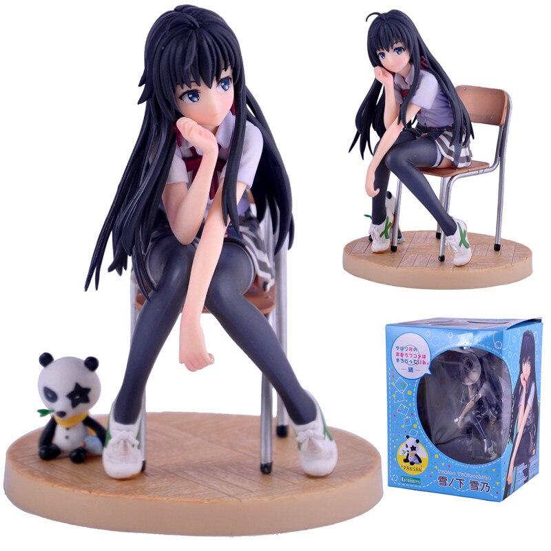 2017 My Teen romantyczna komedia figurki zabawki SNAFU Yukinoshita Yukino dziewczyna figurki lalki Brinquedos prezent 13.5cm