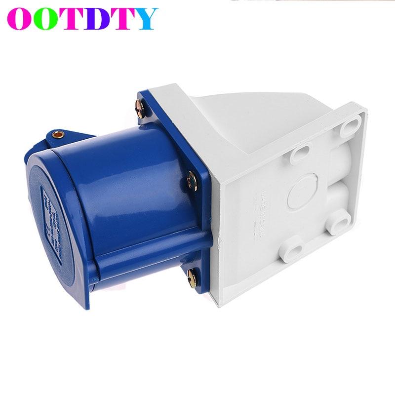 32 Amp 3 Pin Plug Water Proof Socket 220V-250Volt Weerbestendig IP44 2P + E 32A