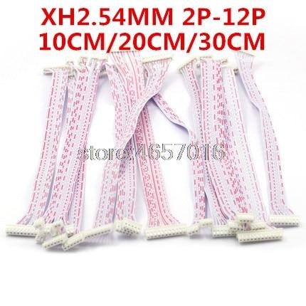 10 pçs/lote 10 cm 20 cm 30 cm 2 P 3 P 4 P 5 P 6 P 7 P 8 P 9 P 10 P Fio de Cabo Conector JST XH 2.54 milímetros Arremesso Feminino para Feminino