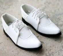 [Wamami] 13 # blanc 1/3 SD DZ BJD Dollfie chaussures en cuir ~ 9.0cm
