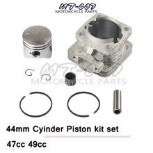 Kit de Piston de 44mm   Pour Mini moto Dirt ATV, poche Quad, Mini moto rcycle, pièces de moto