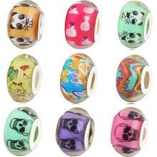 Hot Sale Hollow Colorful Animal Panda Shantou Flowers Mickey Glass Beads Charms Fit Pandora Bracelets Women Lover DIY Gift