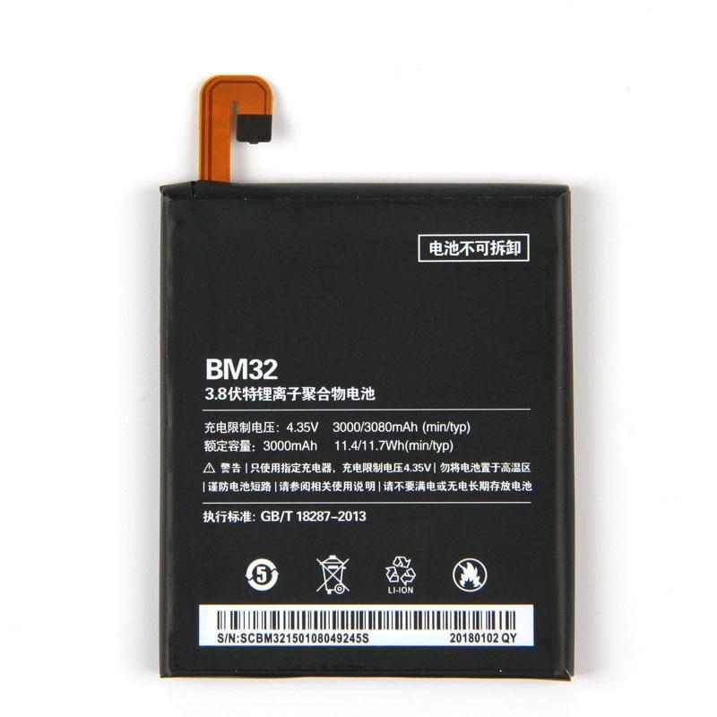 2 unids/lote 3080mah batería de repuesto BM32 para Xiaomi Mi 4 M4 Mi4 BM32 teléfono móvil li-ion batería con regalo